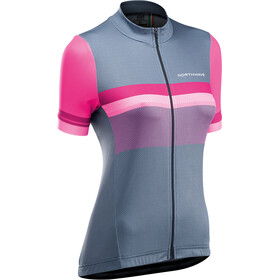 Northwave Origin Short Sleeve Jersey Women, gray/magenta